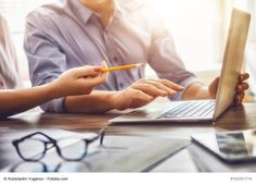 man and woman working in the office by choreograph. man and woman working in the office. Corporate Design, Business Design, Business Stock Photos, Solar Companies, Web Design, Design Ideas, Advertising Services, Secret To Success, Best Investments