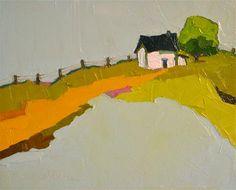 """Hilltop Solace"" - Original Fine Art for Sale - © Donna Walker #landscapepainting #landscape #painting"