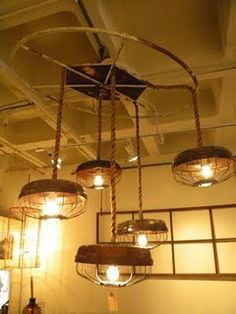 Chicken feeder lamps