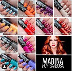 esmaltes_hits_e_marina_ruy_barbosa_vicio_de_menina Nail Polishes, Manicure, Nails Inc, Nail Shop, Art Club, How To Do Nails, Art Day, Nail Art Designs, Appreciation