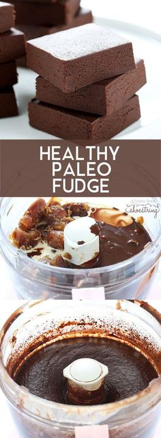 Healthy, rich chocolate Paleo fudge, with no added sweeteners of any kind (not even sugar substitutes!)