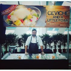 #culinary #carnival @marinabaycruisecentresg cerviche with lime foam and blood orange caviar #moleculargastronomy #cheflife #sgfood #igfood