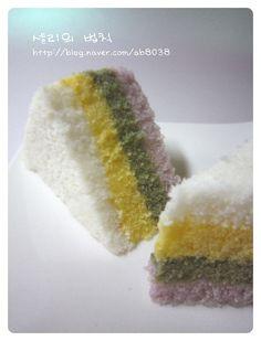 무지개떡 Rainbow Rice Cake Recipe