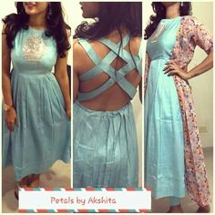 #pintrest@Dixna deol Blouse Back Neck Designs, Kurti Neck Designs, Blouse Designs, Indian Attire, Indian Wear, Ethnic Fashion, Indian Fashion, Indian Dresses, Indian Outfits