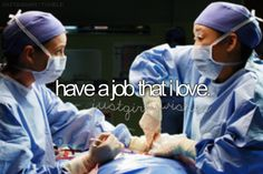 My baby girl wants to be a surgeon so bad! Thus the reason Grey's is our favorite show!