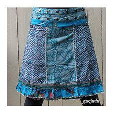 GANJA-LA Rock Gipsy Moshiki Hippie Wickelrock Moshikirock Patchwork S-XL