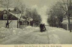 Scène d'hiver à St-Jean-Port-Joli
