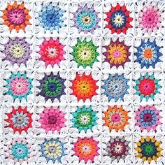 TWO Paper Napkins for Decoupage GRANNY SQUARES by LanternsByTamara