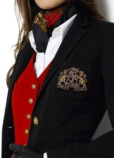 There's something about a Guardsman Red vest! Ralph Lauren