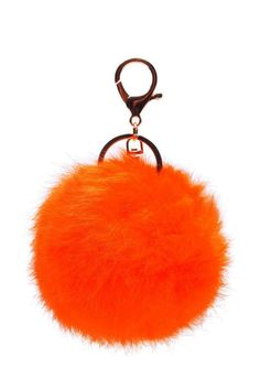 Shoptiques Product: Fur Keychain - main Fur Keychain, Keychains, Car Key Ring, Metal Pipe, Key Chain Rings, Fur Pom Pom, Rabbit Fur, Color Pop, Plating