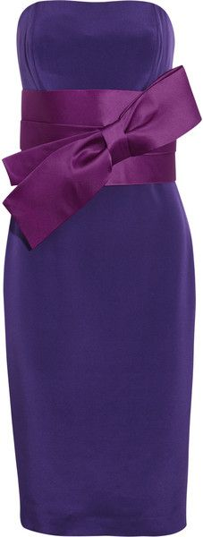Notte by Marchesa Purple Bow-front Silk-crepe Dress Crepe Dress, Silk Crepe, Peplum Dress, Dress Up, Pretty Outfits, Beautiful Outfits, Shades Of Purple, Purple Haze, Purple Reign