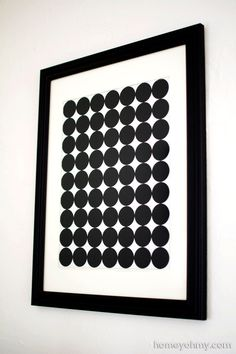 DIY Graphic Circle Wall Art - Homey Oh My