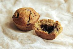 Orkiszowe muffinki z borówkami