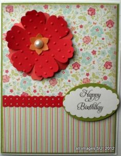 Card Making Idea using My Digital Studio Downloads with Stampin Up! Punches