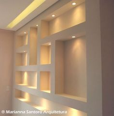 Stylish Modern Ceiling Design Ideas - All For Decoration Niche Design, Wall Design, House Design, Flur Design, Modern Ceiling, Living Room Tv, Ceiling Design, Living Room Designs, Shelves