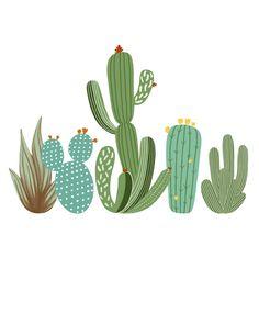 Cactus family – From Parts Unknown Cactus Drawing, Cactus Painting, Cactus Wall Art, Cactus Pictures, Cactus Vector, Cactus Photography, Cactus Plants, Indoor Cactus, Cacti