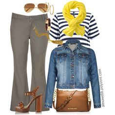 A fashion look from August 2015 featuring maurices capris, Michael Kors sandals and MICHAEL Michael Kors shoulder bags. Browse and shop related looks.