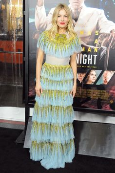 The Live by Night Premiere Gives Us a Post-Globes Fashion Fix - Sienna Miller from InStyle.com