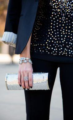 Silver Sequin Outfit by Stylishly Me