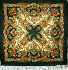 Russian Scarves - Pavlovo Posad Shawl - Wool Shawls Russian Shawls
