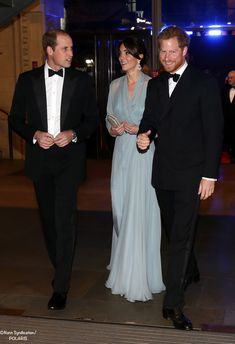 The Duke and Duchess of Cambridge, and Prince Harry attend the premiere of Spectre.