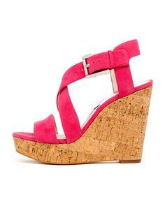 MICHAEL Michael Kors Giovanna Cork Wedge Sandal. $135