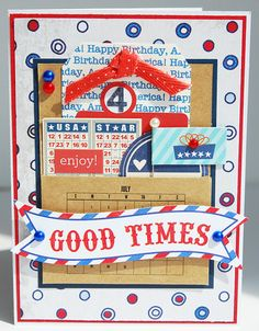Patriotic 4th of July Red White and Blue All by thecardkiosk
