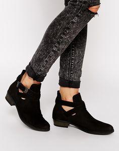 Carvela Selena Western Buckle Ankle Boots - Black