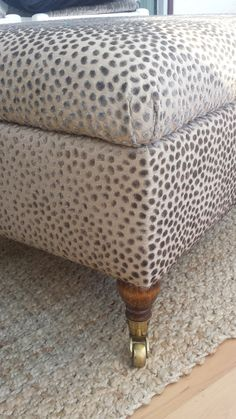 lee jofa cosma fabric - its added oodles of texture to this ottoman