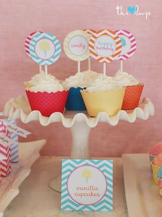 cute tags, don't love the cupcake wraps, there are cuter