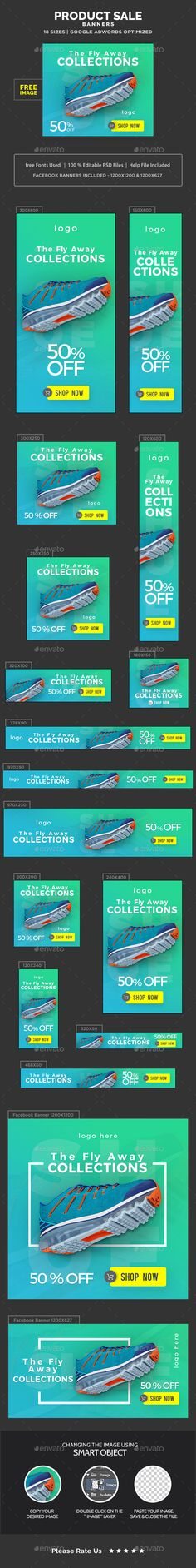 Product Sale Banners Design Template - Images Included - Banners & Ads Web Elements Template PSD. Download here: https://graphicriver.net/item/product-sale-banners-images-included/17741125?s_rank=2&ref=yinkira