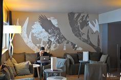 Décoration intérieure pour l'hôtel Le Grand Aigle**** à Serre-Chevalier