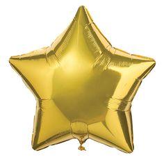 Un globo brillante con forma de estrella, de www.fiestafacil.com