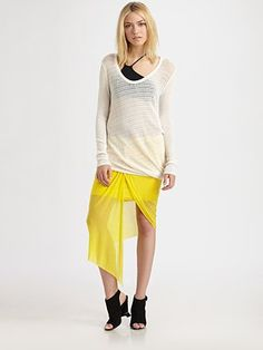 Helmut Lang Arid Crepe Pullover goes great with brights!