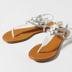 Whats that? Claire's is having a Flip flop/ Sandal Sale!!! These are the Rhinestones Rock Sandals. These sandals are priced at $18.00.  Get sandals like this and many more Buy one get one free! They come in sizes 6-10 (Women's). To see these and many others go to: http://www.claires.com/store/the-goods/Teens/cat310072/Shop-by-Category/Footwear/?navAction=pop=0 or visit your closet Claire's store.