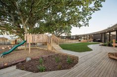 Chrysalis Childcare Centre uses existing trees as symbolic cen...