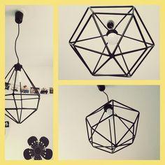 #lampe #lustre #pailles #noires #DECOMAISON
