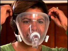 Fitting and Adjusting - Respironics FitLife Total Face CPAP Mask