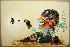 Street Art – Les animaux fantasmagoriques de El Curiot