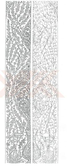 Turkish Motifs and patterns Chinese Patterns, Ethnic Patterns, Tile Patterns, Embroidery Patterns, Persian Motifs, Persian Pattern, Ottoman Design, Turkish Art, Filigree Design