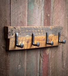 Large Reclaimed Wood & Railroad Spike Rack