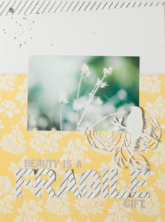 "In The Scrap: Layout ""Fragile"" - Por Rut"