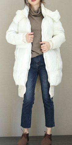 c5d7045b0a Korea Style Thicken Hoodie Down Coat For Women Q1766