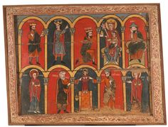 Altar frontal with Scenes from the Childhood of Christ - The Collection - Museo Nacional del Prado