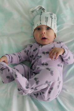 b0f213f1ae6 Boy or girl cotton top knot baby hat - arrow