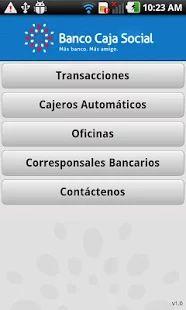 Banco Caja Social Móvil: miniatura de captura de pantalla