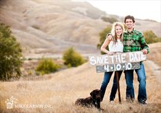Save the date photo idea.     Photo by Mike Larson Inc.