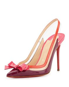 Suspenodo Red-Sole Colorblock Slingback Pump by Christian Louboutin