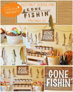 Fishing Party Ideas | Complete Printable Fishing Instant Download Editable Party Kit by Enchanting Details