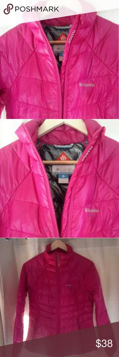 Columbia Jacket 650 Turbodown Omni heat, super warm. You can't see in pictures, but the dark feathers show through, and look like small stains on the jacket. Columbia Jackets & Coats Puffers
